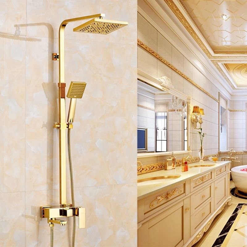 Luxury Gold Finish Wall Mounted 8