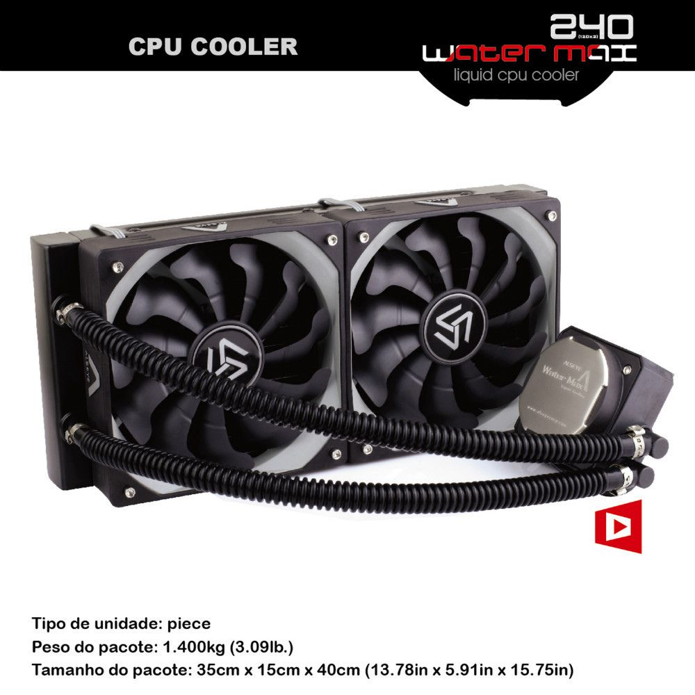 ALSEYE Water Cooling CPU Cooler TDP 320W Processor Cooler Dual PWM 120mm fan for computer CPU LGA115x/1366/2011/AM2/AM3/AM4 All