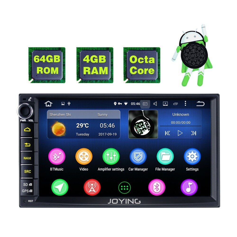 Neue Produkt Doppel 2 Din 4 gb + 64 gb Kopf Einheit Android Universal Auto Radio Stereo Multimedia Player Band recorder Mit Video