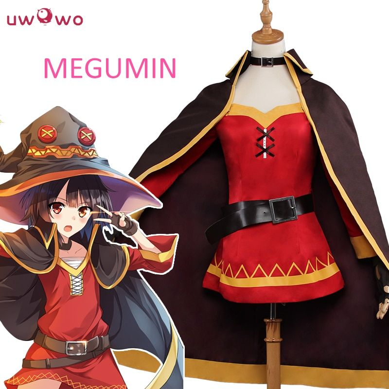 UWOWO KonoSuba Megumin Halloween Cosplay Anime God's Blessing on this Wonderful World Cosplay Megumin KonoSuba Costume Women