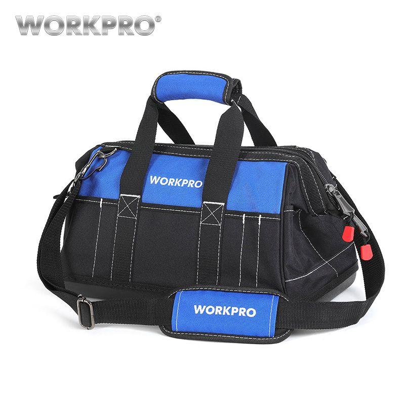 WORKPRO 2018 New Tool Bags Waterproof Travel Bags Men Crossbody Bag Tool Storage Bags with Waterproof Base Free Shipping