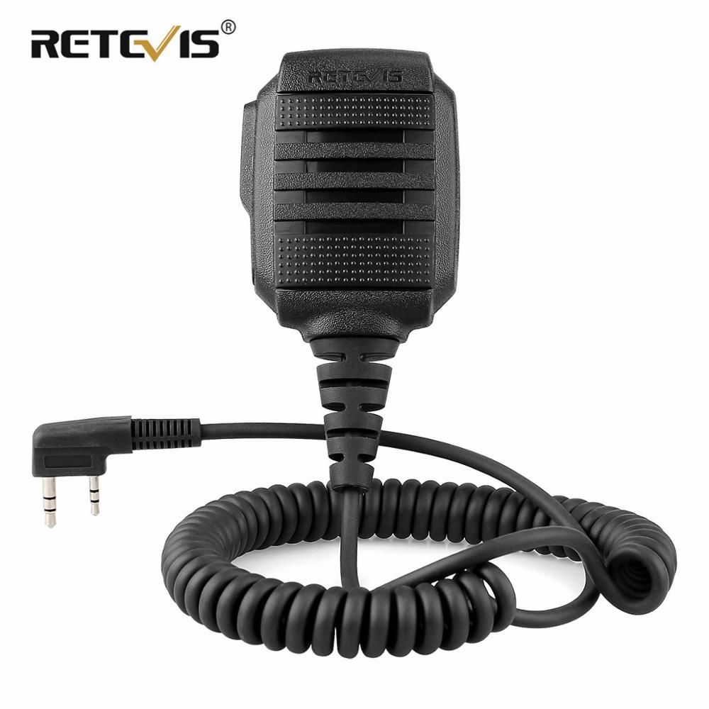 Chape RS-114 IP54 étanche haut-parleur Microphone pour Kenwood chape H777 RT5R RT22 RT81 BAOFENG UV-5R UV-82 888 S talkie-walkie