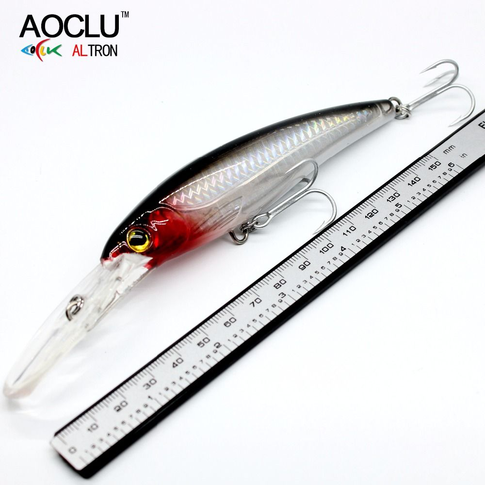 2018 AOCLU NEW LURE wobblers 120mm 32g Hard Bait Minnow Crank fishing lure saltwater Bass Fresh VMC hooks 6 colors tackle