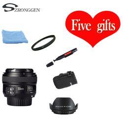 YONGNUO YN 50mm f/1,8 lente AF YN50mm Apertura de enfoque automático gran apertura para Nikon DSLR Cámara como AF-S 50mm 1,8G lente libre bolsa