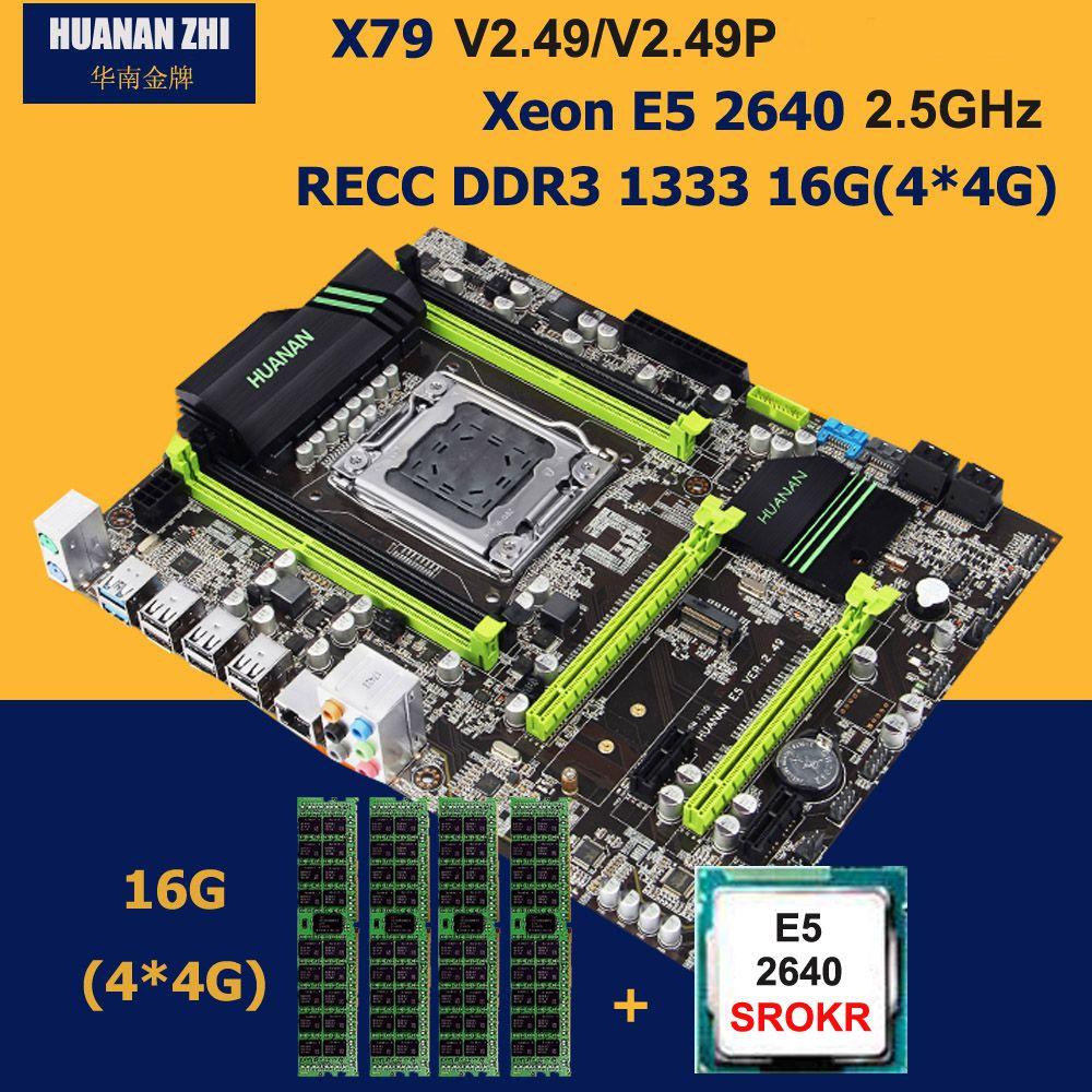 Building computer HUANAN ZHI X79 V2.49/2.49P motherboard CPU RAM kit Intel Xeon E5 2640 2.5GHz RAM 16G DDR3 RECC NVME M.2 port