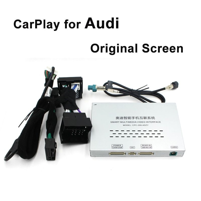 Video Interface with Dynamic Parking Guideline Carplay Box for A4 A6 A5 B9 Q5 Original Screen Upgrade MMI system Carplay AirPlay