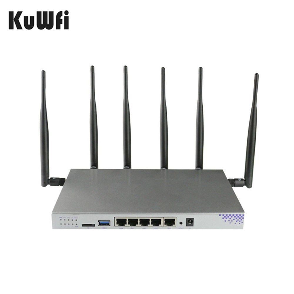 KuWFi 1200Mbps 3G 4G USB Router 4G LTE Wireless WiFi Router Dual-band Openwrt Router Wifi Repeater With SIM Card Slot Gigabit