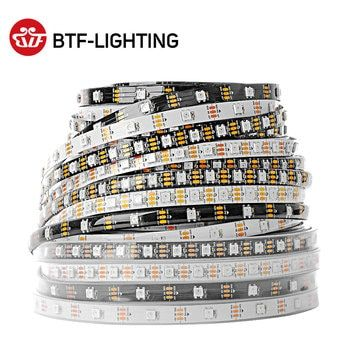 WS2812B Led Strip 1m/2m/4m/5m WS2812 Smart RGB Led Light Strip 30/60/74/96/100/144 pixels/leds/m Black/White PCB IP30/65/67 DC5V
