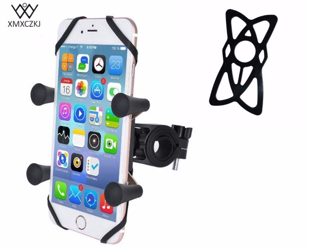 Vélo Guidon Rail Mount avec U-Boulon De La Base et Universel X-Grip Cell Téléphone De Vélos moto support Titulaire avec la sécurité Des Bandes