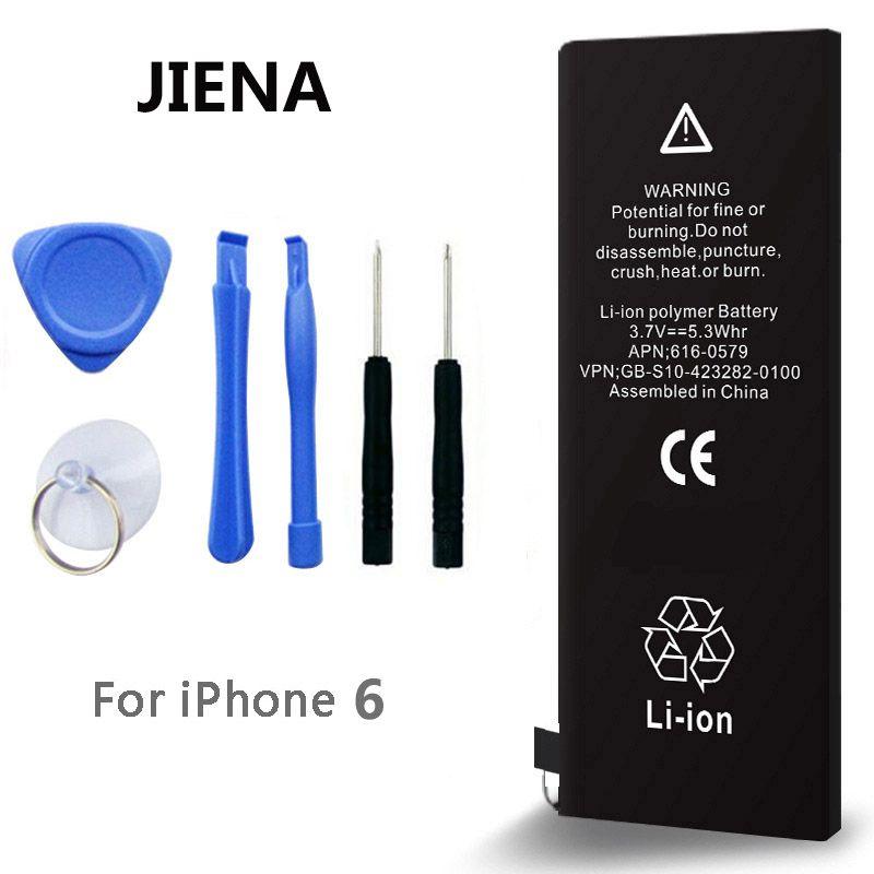 0 zyklus lithium-ionen-akku für iphone 6 hohe kapazität 1810 mah 3,8 v ersatz 6g batterien mit kostenlose reparatur werkzeuge