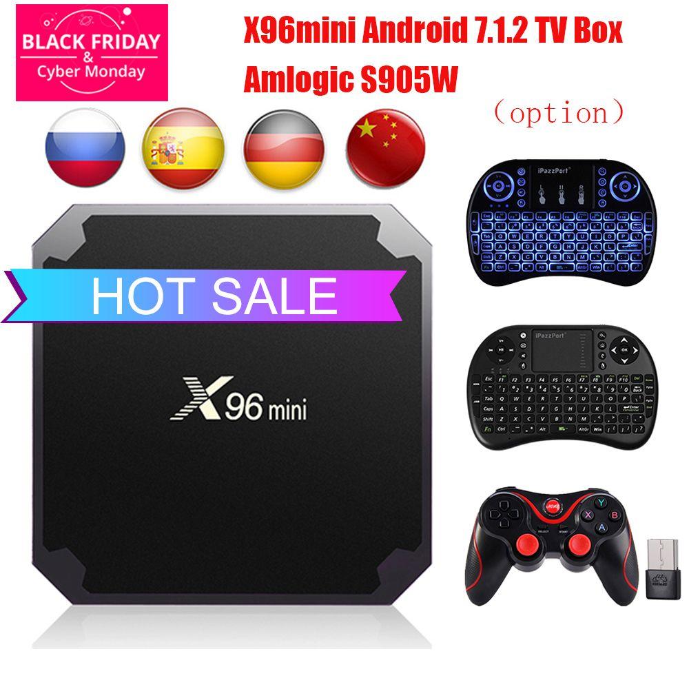Android 7.1.2 TV BOX X96 mini 2GB 16GB 1GB 8GB TV Box Amlogic S905W Quad Core Support 4K 2.4GHz WiFi X96mini Smart TV Box pk X96
