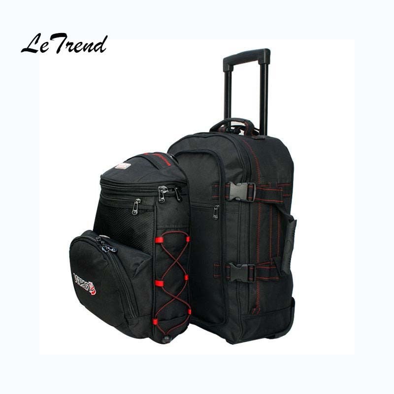 Letrend Rolling Luggage Set backpack Trolley Business Shoulder bag Travel Bag Multi-function Suitcases Wheel
