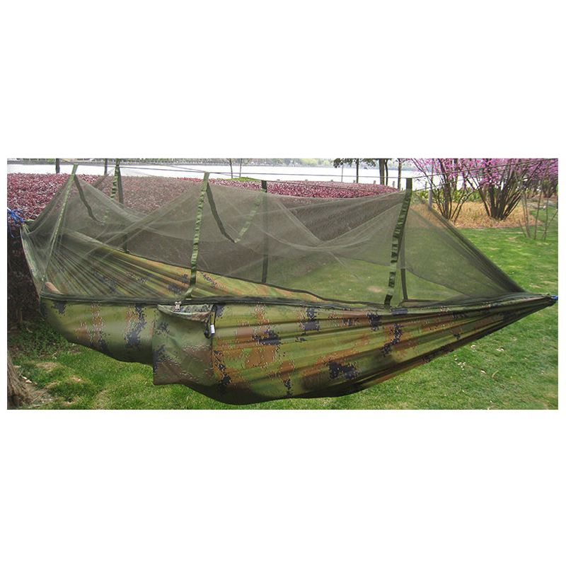 Double Person Travel Outdoor Camping <font><b>Tent</b></font> Hanging Hammock Bed & Mosquito Net Camouflage