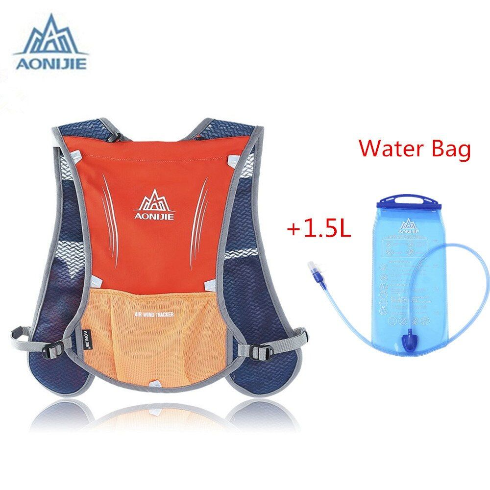 Aonijie Cycling Running Bag Backpack and 1.5L Water Bag Outdoor Backpack Women Men Marathon Hydration Vest Pack