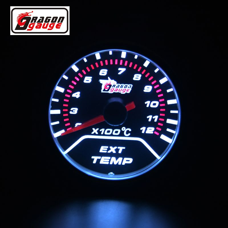52mm Ext temp gauge Pointer Car Exhaust Gas Temperature EGT Gauge For Motorcycle And Car Exhaust Temperature Meter Free shipping