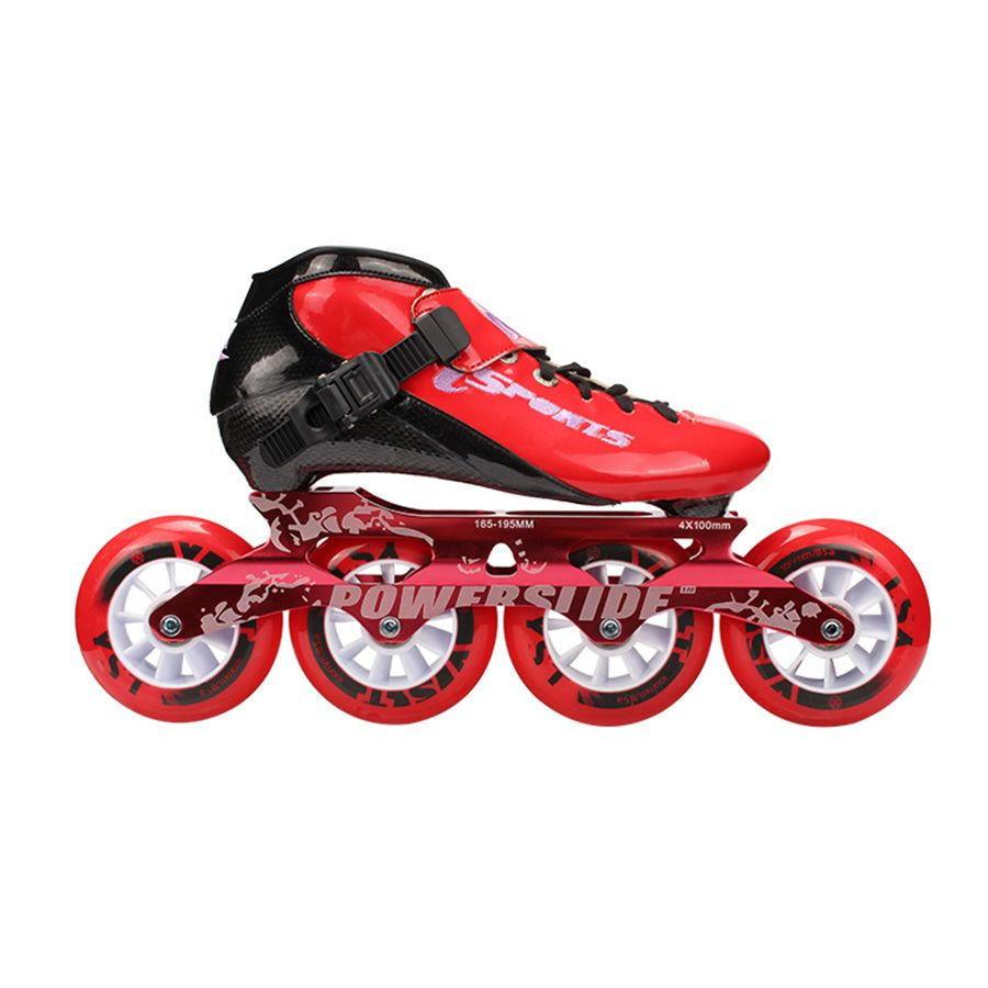 Speed Inline Skates Carbon Fiber Professional 4*100/110mm Competition Skates 4 Wheels Racing Skating Patines Similar Powerslide