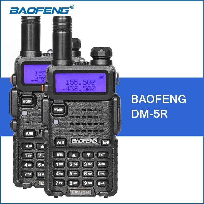 2PCS/LOT Baofeng UV-5R Upgraded Version DM-5R DMR Digital Radio UHF VHF 136-174MHZ/400-480MHZ Portable Walkie Talkie 2000mAh 5W