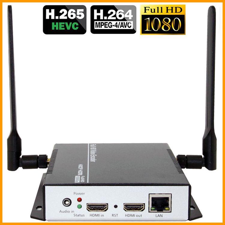 HEVC H.265 HDMI Video Audio Zu RTSP RTMP HTTP M3U8 Streaming Encoder Drahtlose H265 H.264 HD Video Zu IP Stream encoder IPTV WiFi