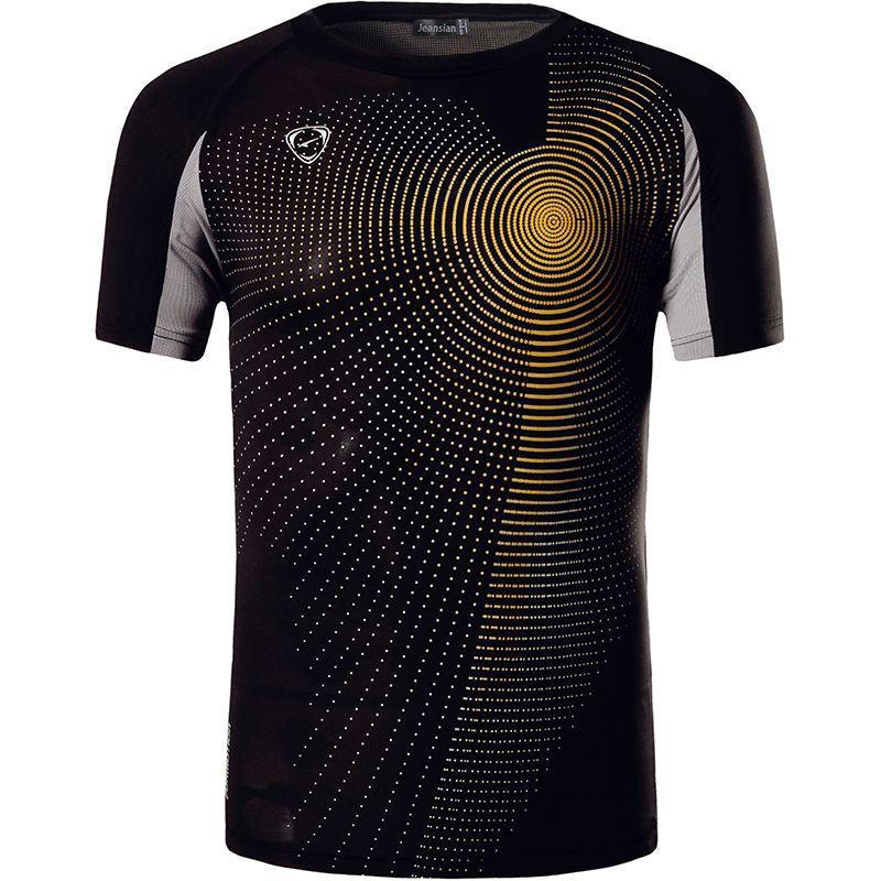 Nouveauté 2019 hommes Designer T Shirt décontracté séchage rapide Slim Fit dessus de chemise et t-shirts taille S M L XL LSL013 (veuillez choisir la taille USA)