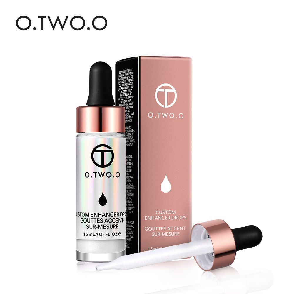 O.TWO.O Liquid Highlighter Illuminating Bronzing Drops Cream Make up Shimmer Face Glow Ultra-concentrated Gold Bronzer Cosmetics