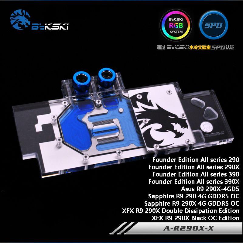 Bykski A-R290X-X Full Cover Grafikkarte Wasserkühlung Block RGB/RBW/ARUA für Gründer Edition Alle serie 290/290X/390/390X