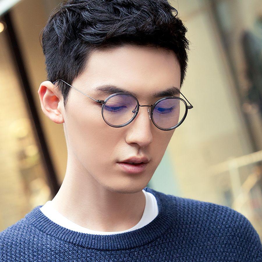 Vazrobe TR90 Petit verres ronds homme femme blanc cadre de lunettes nerd pour homme Optique lentille myopie hommes de degré