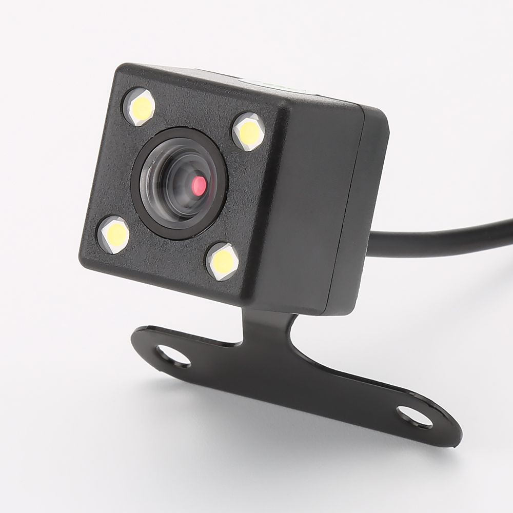 4 Led Lamps Reverse Camera Night Vision HD CDD Rear View Camara Lens 2.5mm Jack with 6 Meters Cable for Car Dvr Mirror Recorders