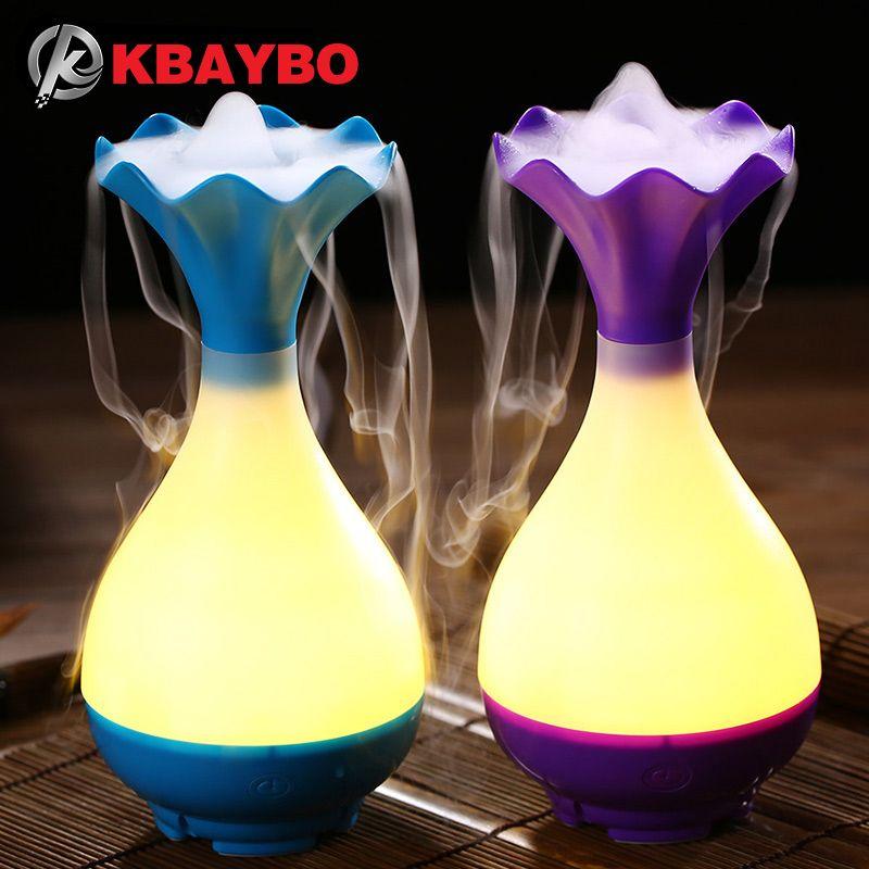 Diffuseur ultrasonique d'arome d'huile essentielle d'aromathérapie d'humidificateur d'air d'usb avec l'atomiseur d'épurateur de brume de veilleuse de LED pour la maison