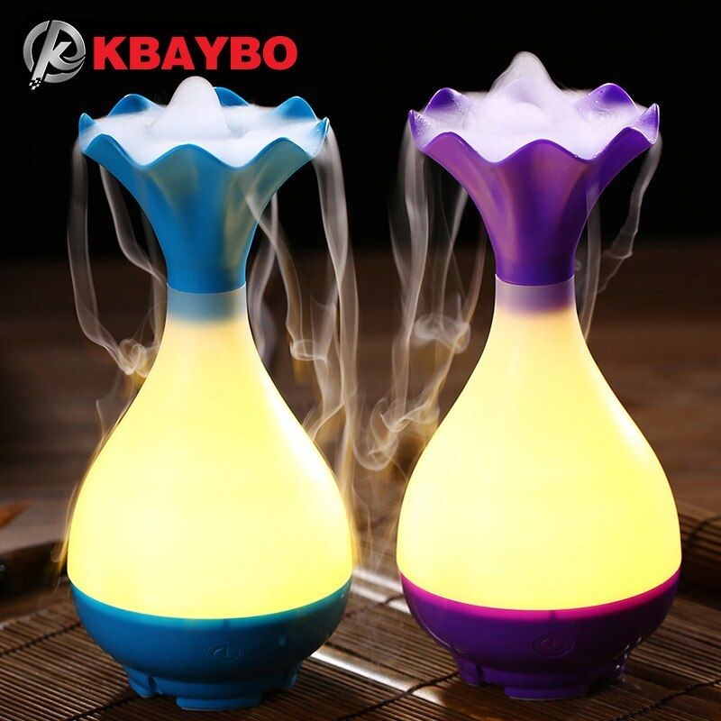 USB Air Humidifier Ultrasonic Aromatherapy Essential Oil Aroma Diffuser with LED Night <font><b>Light</b></font> Mist Purifier atomizer for Home