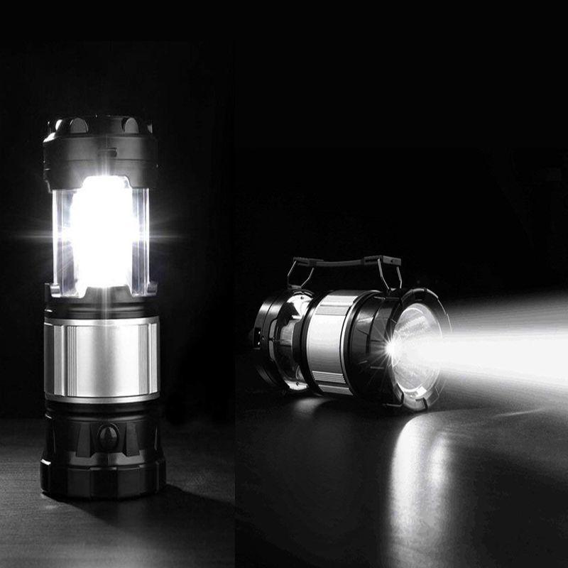 Solaire Alimenté Rechargeable LED Camping Lanterne USB Recharge En Plein Air Suspendus Tente Lumière Batterie Led Pliable Ampoule Lampe