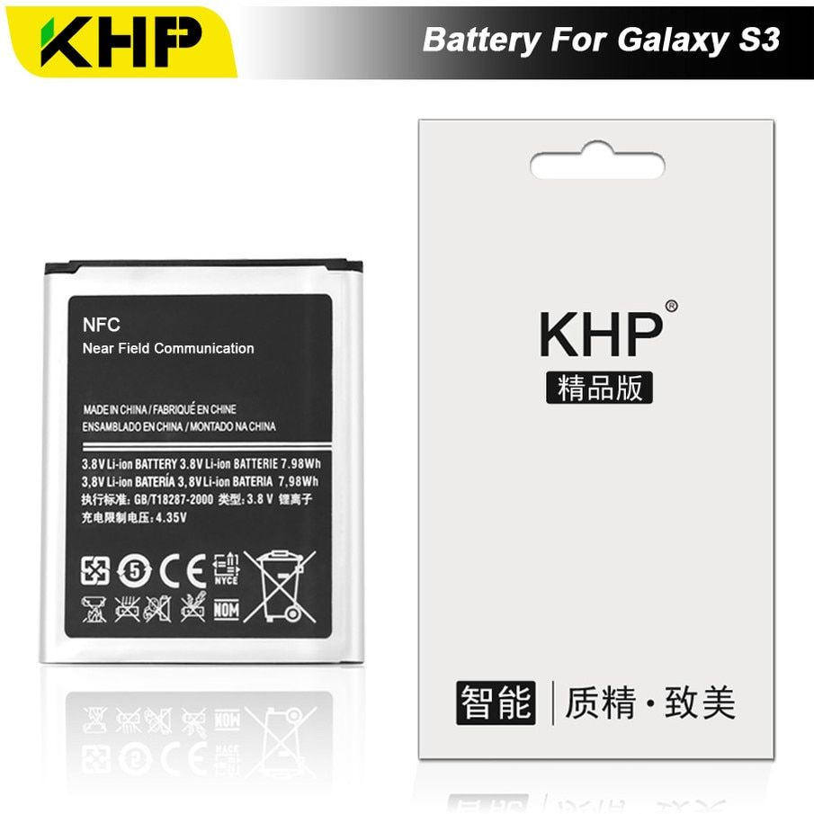 KHP 2018 Original KHP Phone Battery For Samsung Galaxy S3 I9300 I9305 I9308 Battery EB-L1G6LLU Replacement Mobile Battery