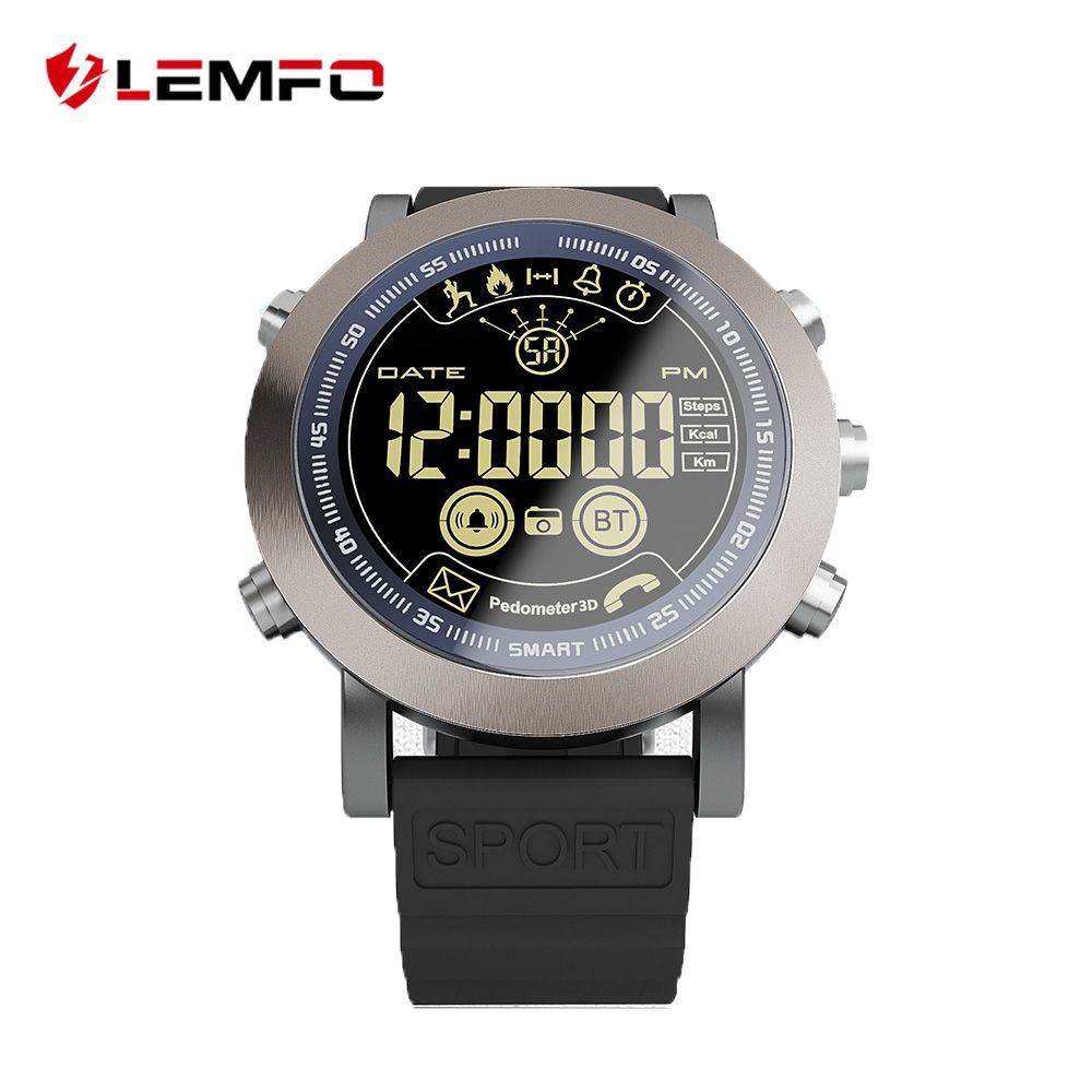 LEMFO LF23 Professional Sport Smart Watch Men 1.21 Inch Big Screen IP68 Waterproof Support Swimming 610Mah 33 Months Standby