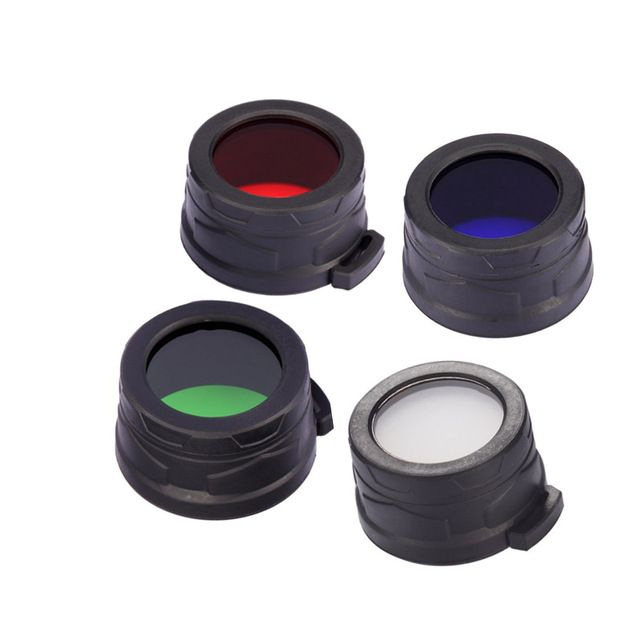 Free shipping 1pc Nitecore Colour Filter(40mm) NFR40 NFB40 NFG40 NFD40 suitable for EA4 P25 flashlight with head of 40mm