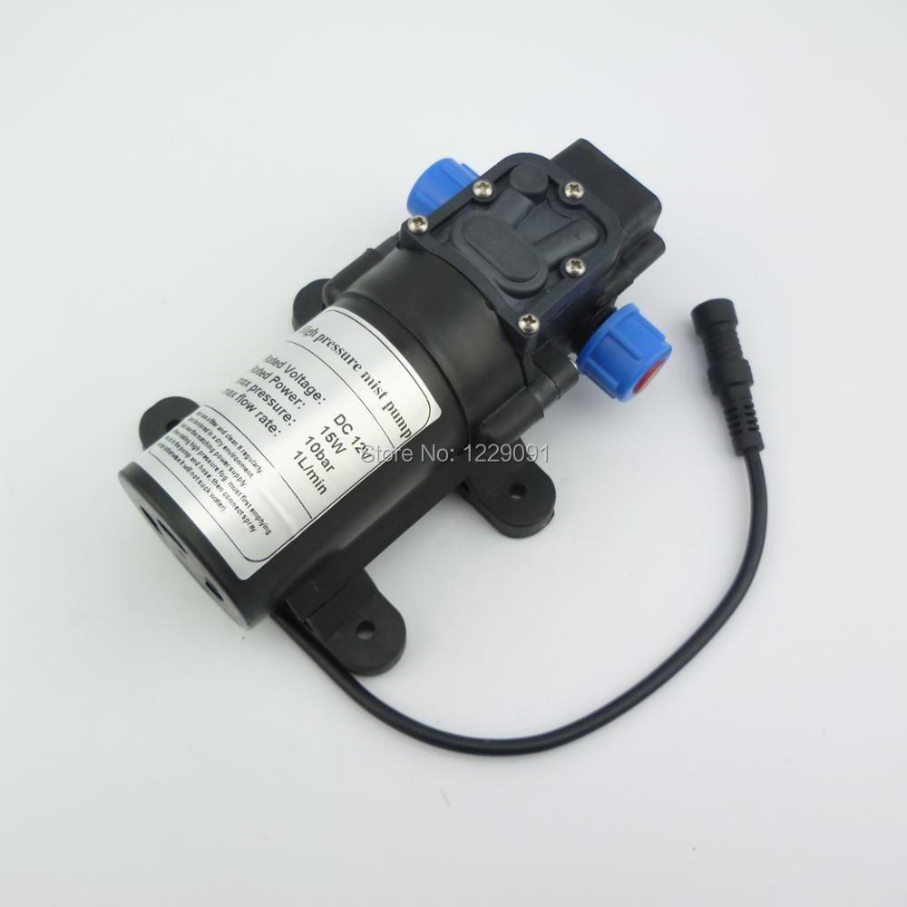 Type de soupape de retour 8bar 15 W 1L/min Mini DC 12 v pompe à membrane électrique haute pression pompe à brouillard d'eau pompe à brouillard pompe de brumisation