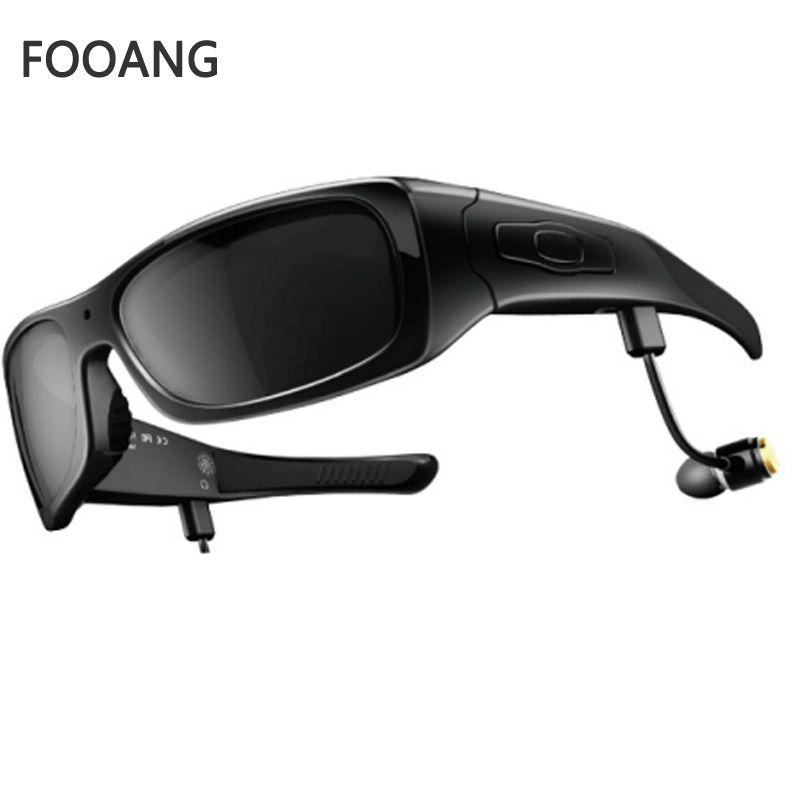 FOOANG Bluetooth headphone earphones HD DV smart glasses uv400 sunglasses recorder mini camcorder DVR photography camera 720p