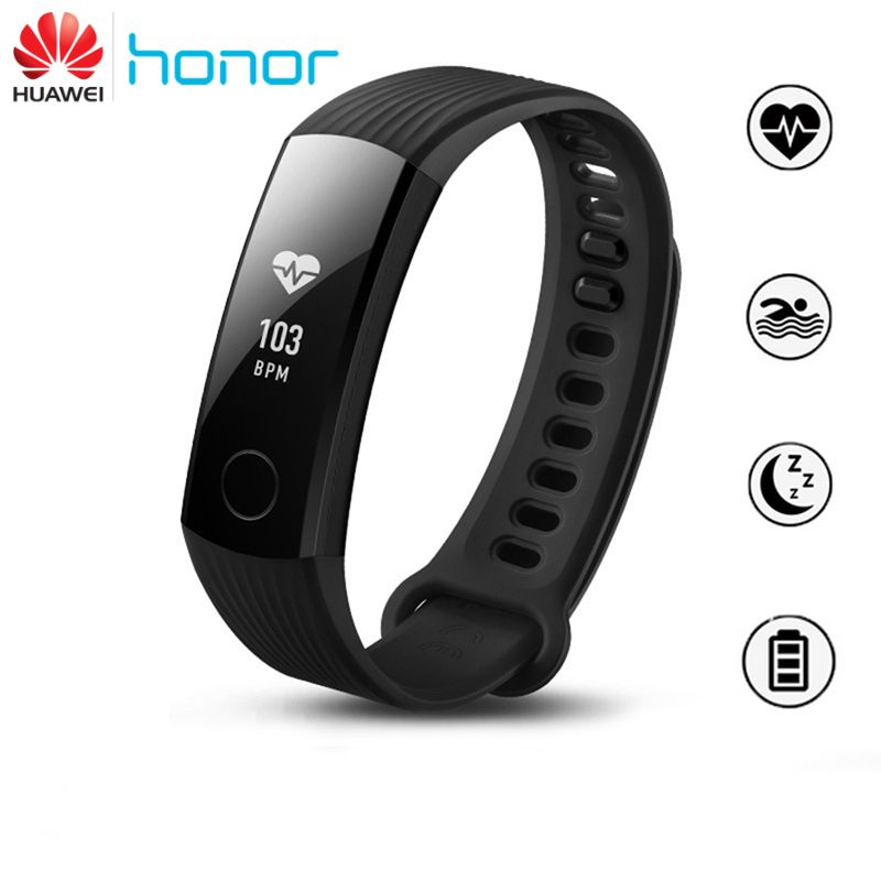 Original huawei honor band 3 smart wristband fitness tracker real-time heart rate monitor smartband for android for iphone