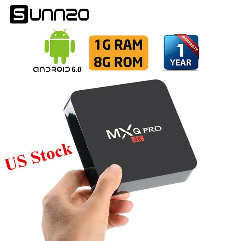 MXQ pro Smart Android 7.1 TV BOX Loaded Kodi 17.4 Set-top box 1GB+8GB Quad Core Streaming Media Player 4K Wifi PK X96