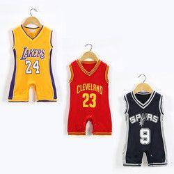 Nouveau Bébé Vêtements Vêtements Bébé Garçons de Barboteuse Salopettes Enfants Vêtements Enfants Vêtements de Basket-Ball Sport Vêtements Barboteuse Détail