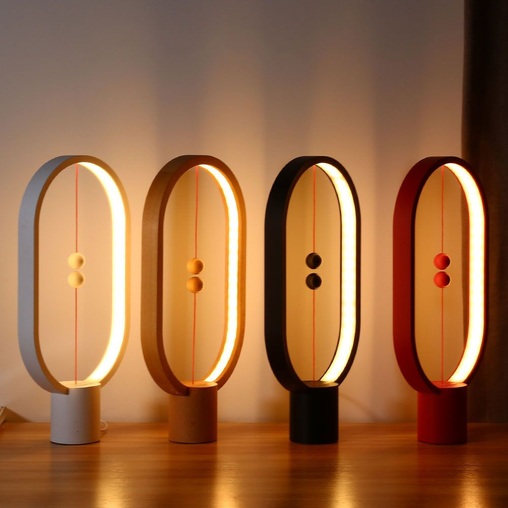 Allocacoc 2018 New LED Light Heng Balance Lamp Indoor Table Night Light Decoration Eye Protection Study Light For Christmas