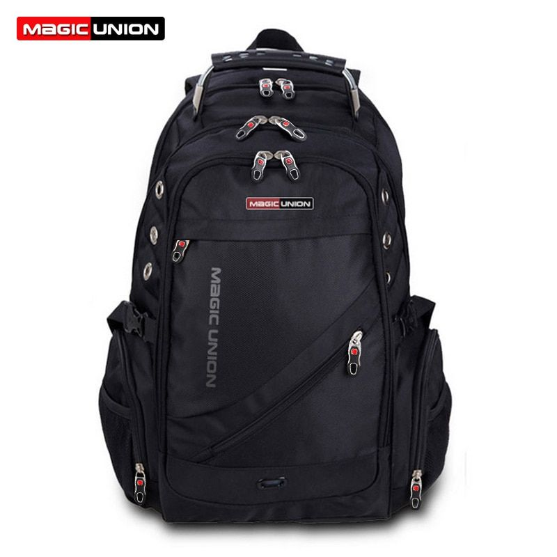 MAGIC UNION Brand Design Men's Travel Bag Man <font><b>Swiss</b></font> Backpack Polyester Bags Waterproof Anti Theft Backpack Laptop Backpacks Men