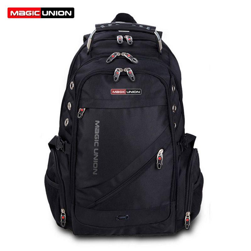 MAGIC UNION Brand Design Men's Travel Bag Man Swiss Backpack Polyester Bags Waterproof Anti Theft Backpack Laptop Backpacks Men