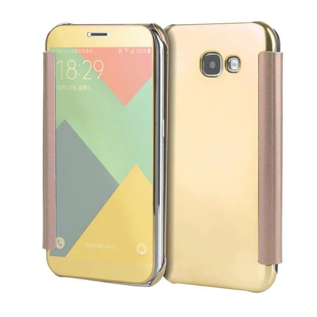 Fashion luxury PC hard shell leather plating mirror Fundas for  Samsung Galaxy A5 2017 back cover for coque Samsung a5 a520 2017
