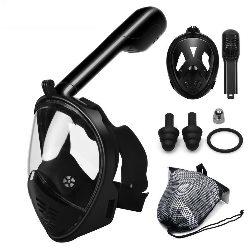 Sous-marine Sport d'été masque de plongée sous-marine masque de plongée en apnée visage complet Anti-buée masque de plongée en apnée pour la natation chasse sous-marine