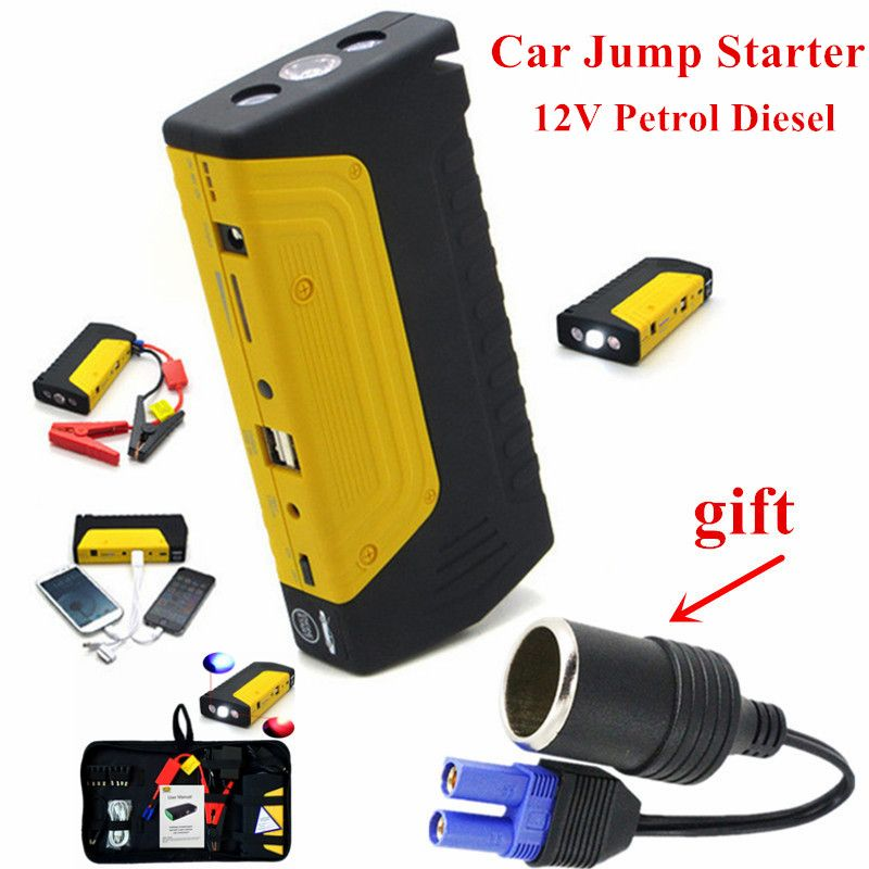 Car Jump Starter 12V 600A Portable Starting Device Power Bank Emergency Car Battery Booster Charger Diesel Petrol Car Starter CE