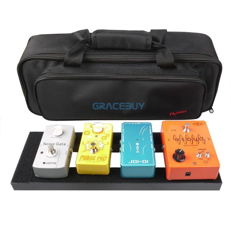 Gitarre effektpedal bord setup 40x13 cm diy gitarre pedal mit magic tape musikinstrument zubehör für verkauf