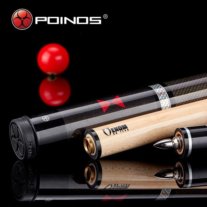 2017 New Poinos BW Stick Billiard Pool Cues Maple Shaft Wood China Billiard Sticks 19 20 21 OZ Cue 58 Inch