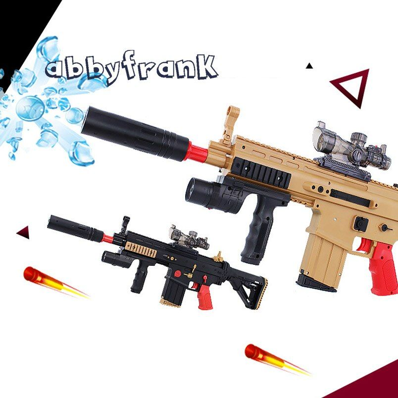 Abbyfrank SCAR Rifle Toy Electric Repeating Water Bullet Assault Toy Gun Soft & Water Bullets Paintball Pistol Toy Gift Idea