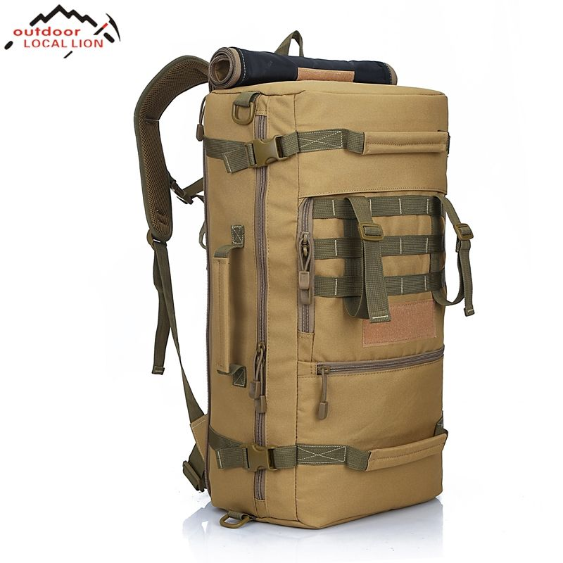 LOCAL LION 2018 Men's Military Tactical Backpack <font><b>Camping</b></font> Mountaineering Backpack Men's Hiking Rucksack Travel Backpack 50L