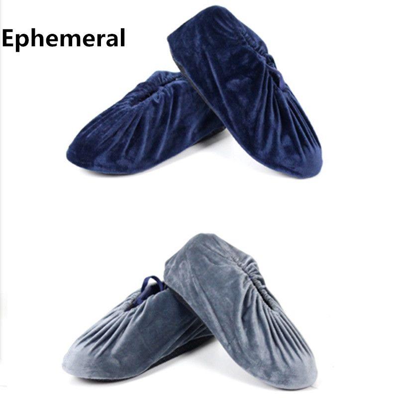 Jetable coton tissu Pas Cher Chaussures De Stockage Pochettes lavable Chaussures Couvre Pour Dames et Hommes En Usine intérieur 10 paires