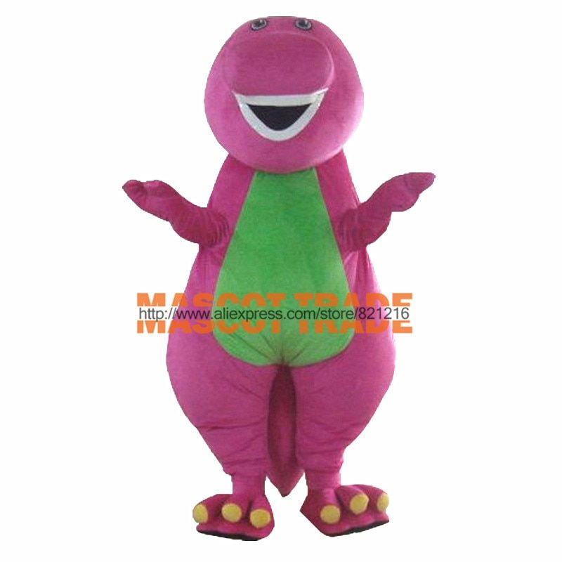Custom made High quality Adult Barney Cartoon Mascot Costumes on Adult Size
